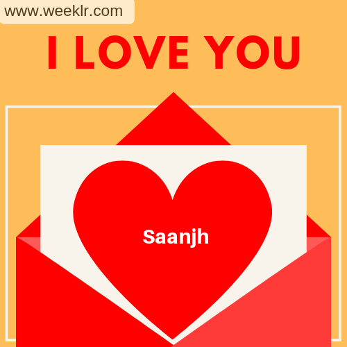 Saanjh I Love You Love Letter photo