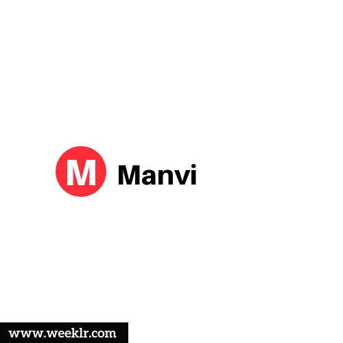 Logo and DP photo of Manvi Name