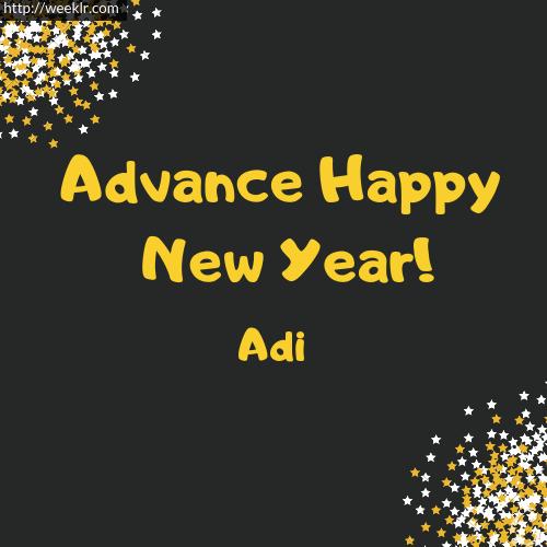 -Adi- Advance Happy New Year to You Greeting Image