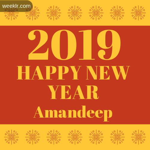Amandeep 2019 Happy New Year image photo