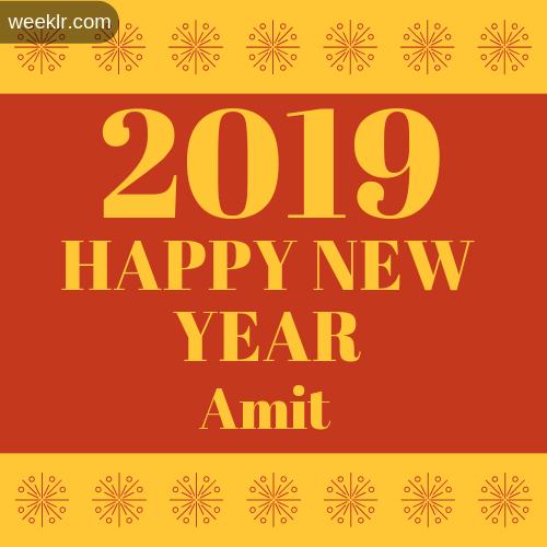 -Amit- 2019 Happy New Year image photo