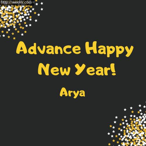 -Arya- Advance Happy New Year to You Greeting Image