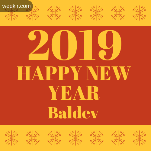 -Baldev- 2019 Happy New Year image photo