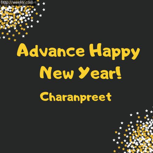 -Charanpreet- Advance Happy New Year to You Greeting Image