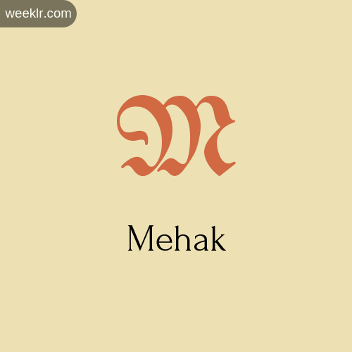 Download Free -Mehak- Logo Image
