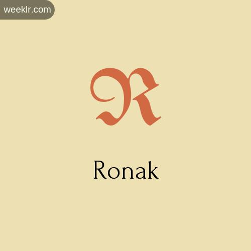 Download Free -Ronak- Logo Image