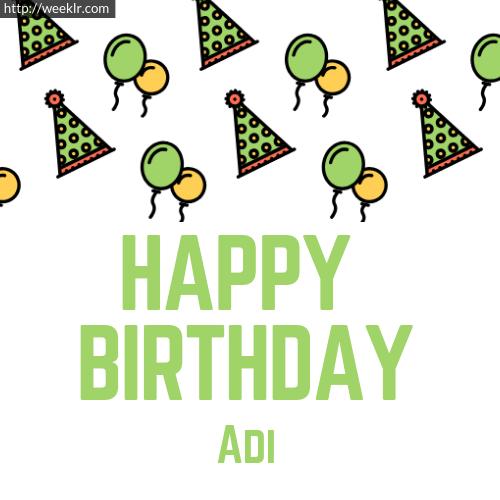 Download Happy birthday -Adi- with Cap Balloons image