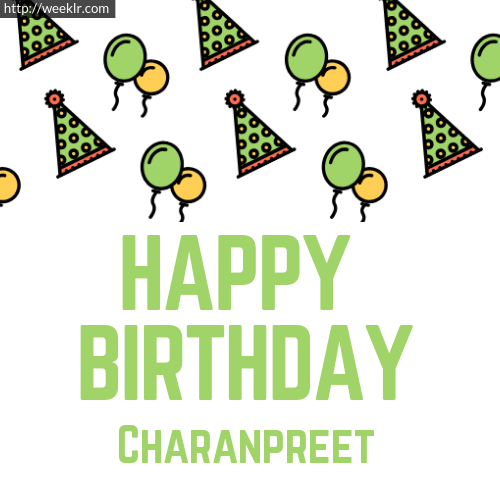 Download Happy birthday -Charanpreet- with Cap Balloons image