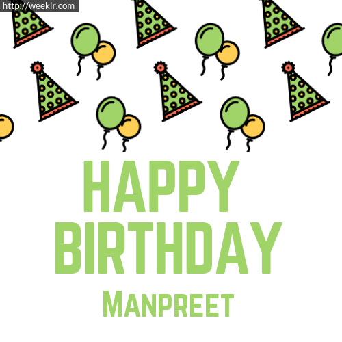 Download Happy birthday -Manpreet- with Cap Balloons image