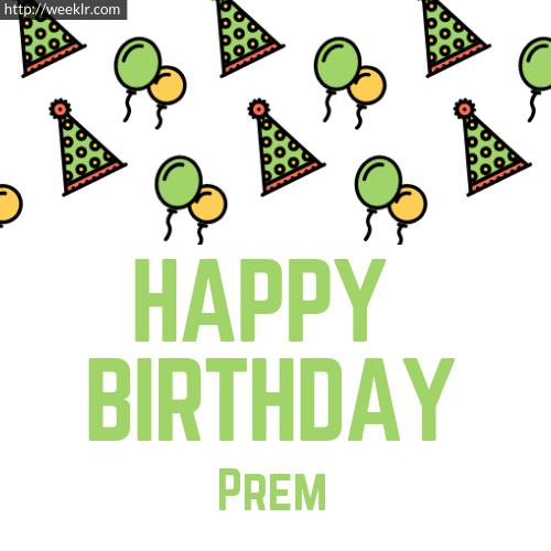 Download Happy birthday -Prem- with Cap Balloons image