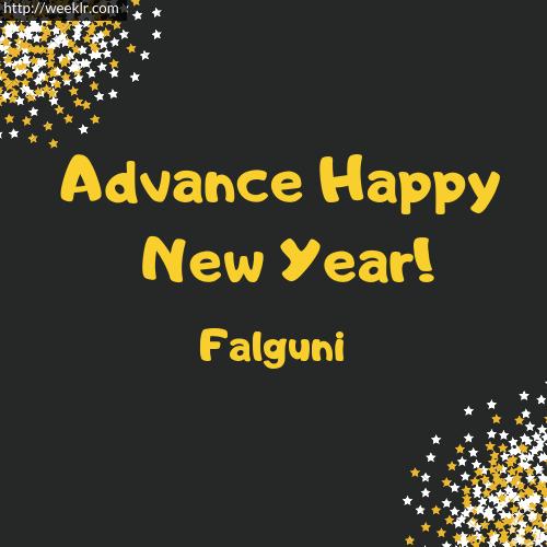 -Falguni- Advance Happy New Year to You Greeting Image