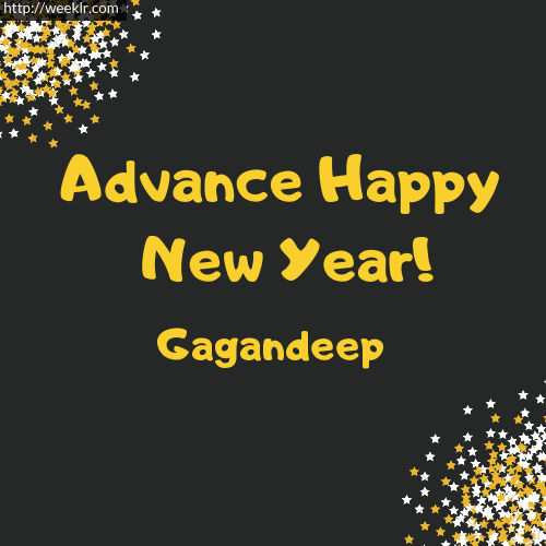 -Gagandeep- Advance Happy New Year to You Greeting Image