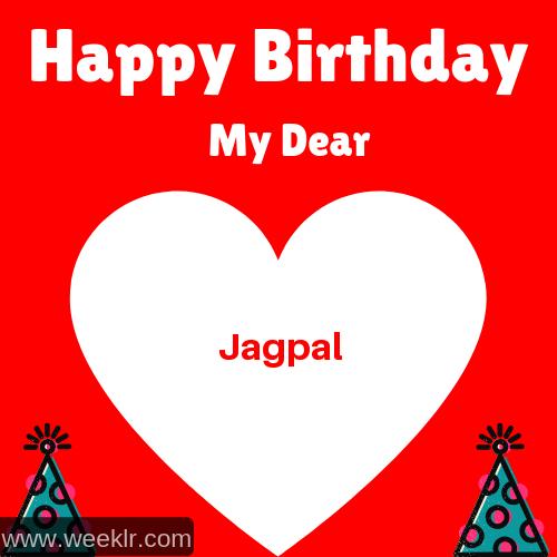Happy Birthday My Dear -Jagpal- Name Wish Greeting Photo