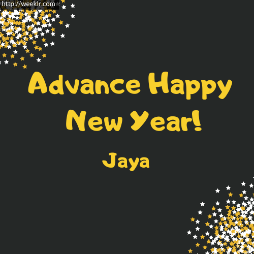 -Jaya- Advance Happy New Year to You Greeting Image