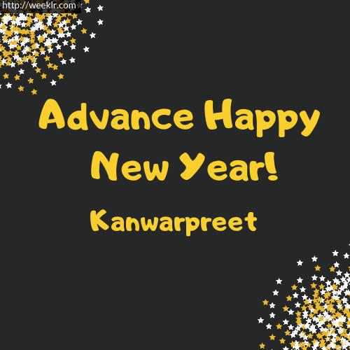 -Kanwarpreet- Advance Happy New Year to You Greeting Image