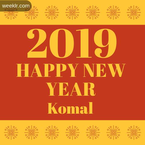 -Komal- 2019 Happy New Year image photo