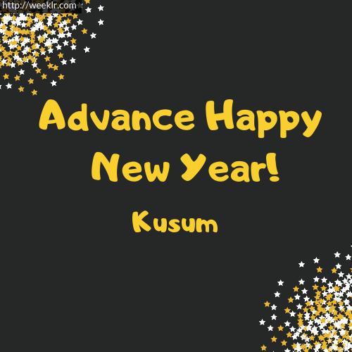 -Kusum- Advance Happy New Year to You Greeting Image
