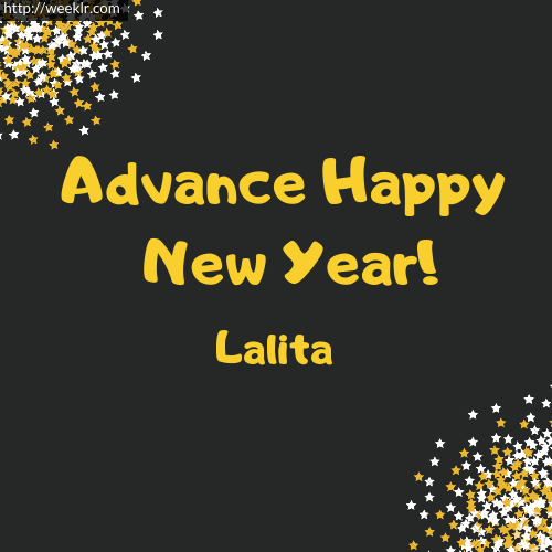 -Lalita- Advance Happy New Year to You Greeting Image