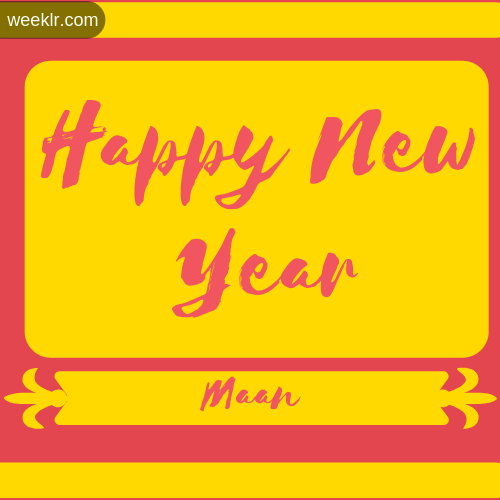 -Maan- Name New Year Wallpaper Photo