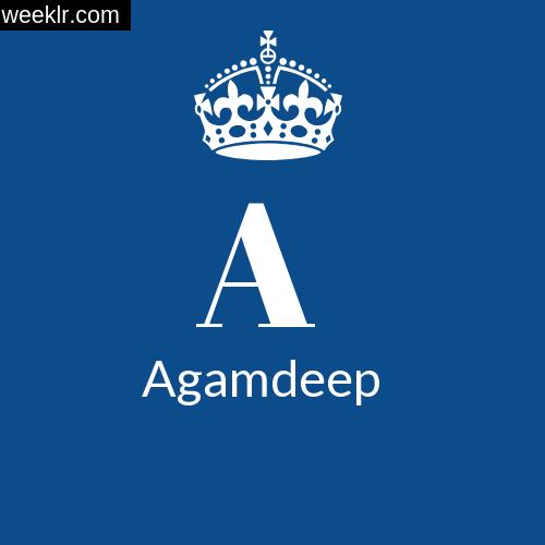 Make -Agamdeep- Name DP Logo Photo