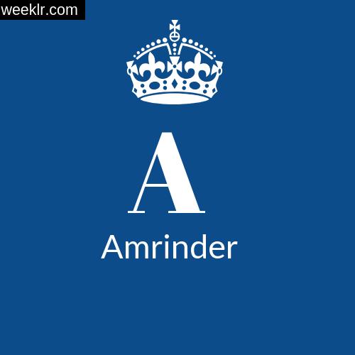 Make -Amrinder- Name DP Logo Photo