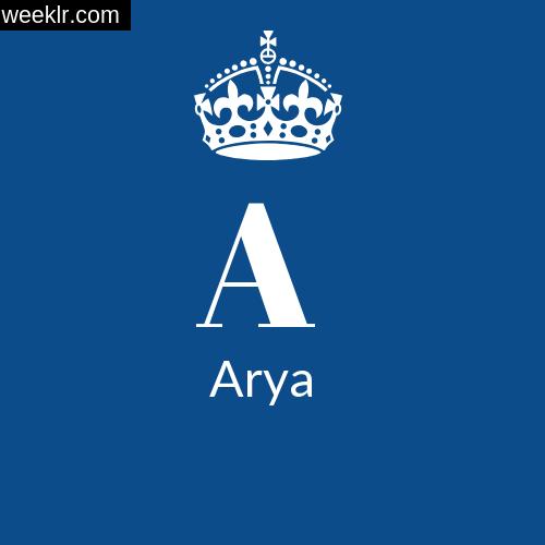 Make -Arya- Name DP Logo Photo