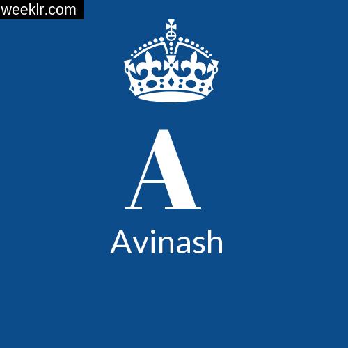 Make -Avinash- Name DP Logo Photo