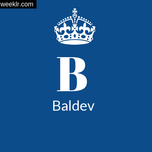 Make -Baldev- Name DP Logo Photo