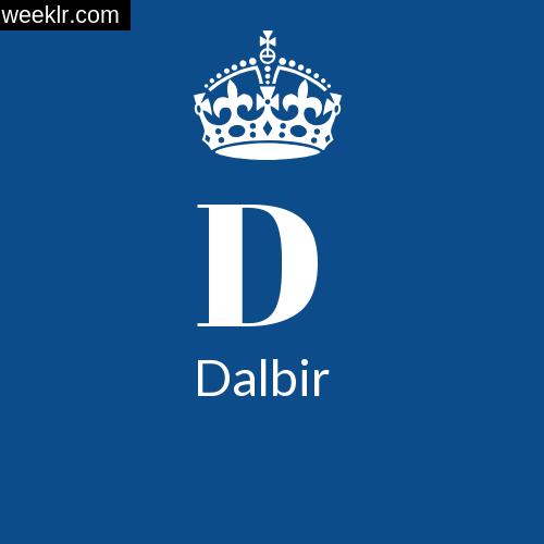 Make -Dalbir- Name DP Logo Photo