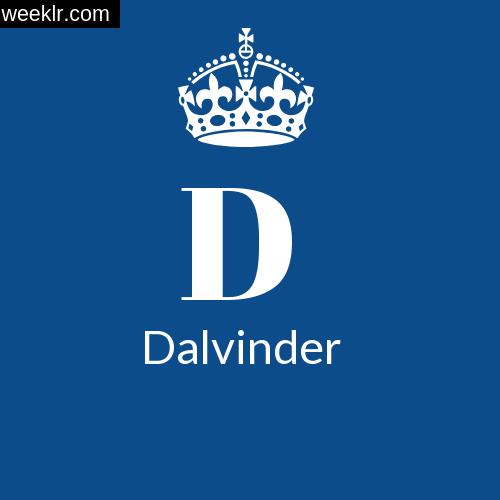 Make -Dalvinder- Name DP Logo Photo