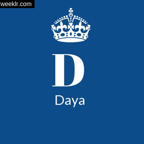 Make -Daya- Name DP Logo Photo
