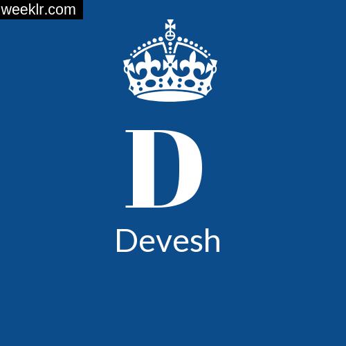 Make -Devesh- Name DP Logo Photo