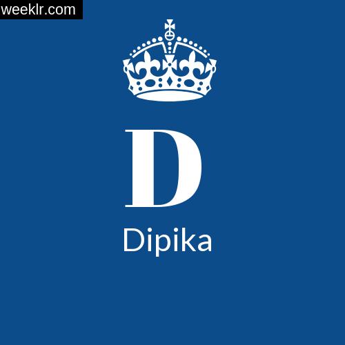 Make -Dipika- Name DP Logo Photo