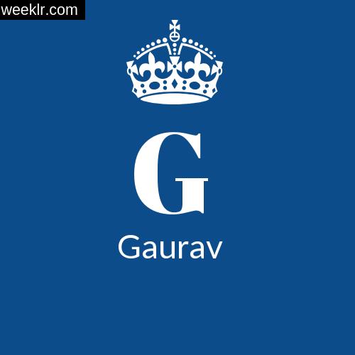 Make -Gaurav- Name DP Logo Photo