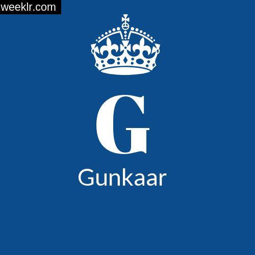 Make -Gunkaar- Name DP Logo Photo