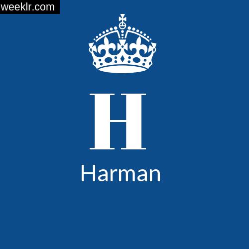 Make -Harman- Name DP Logo Photo
