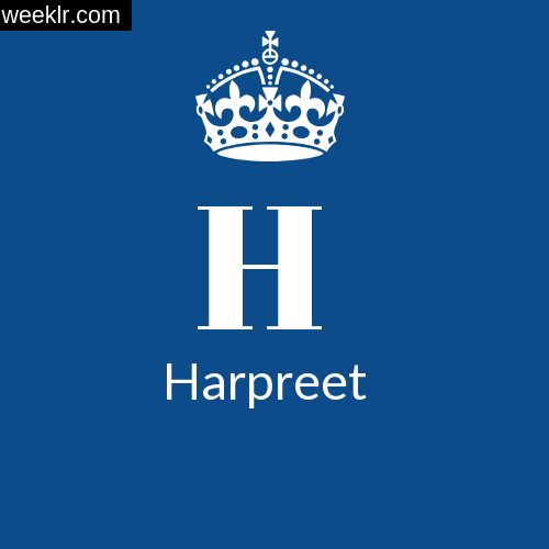 Make -Harpreet- Name DP Logo Photo