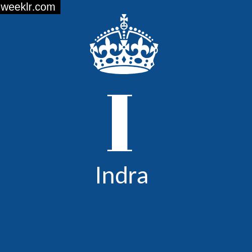 Make -Indra- Name DP Logo Photo