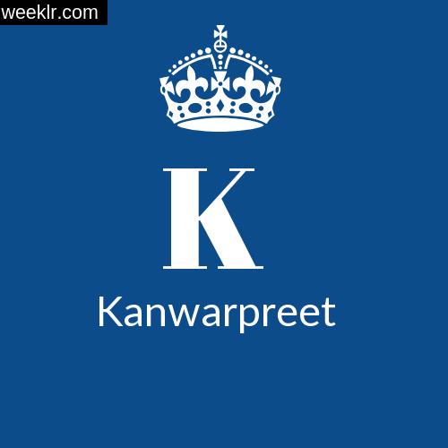 Make -Kanwarpreet- Name DP Logo Photo