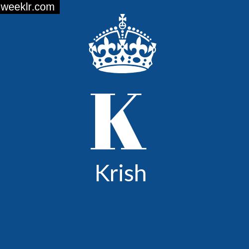 Make -Krish- Name DP Logo Photo
