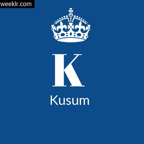 Make -Kusum- Name DP Logo Photo