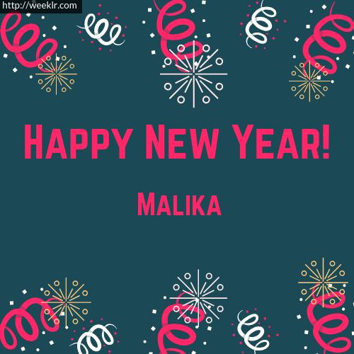 -Malika- Happy New Year Greeting Card Images