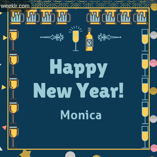 -Monica- Name On Happy New Year Images