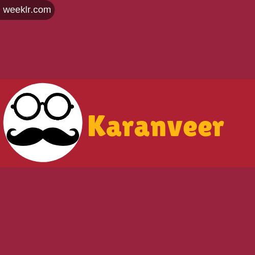 Moustache Men Boys Karanveer Name Logo images