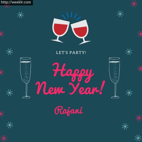 -Rajani- Happy New Year Name Greeting Photo