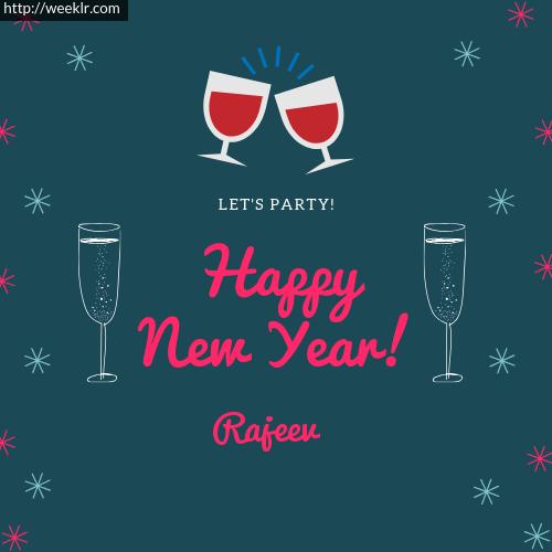 -Rajeev- Happy New Year Name Greeting Photo