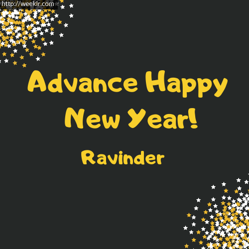 Ravinder Advance Happy New Year to You Greeting Image