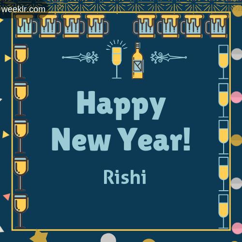 -Rishi- Name On Happy New Year Images