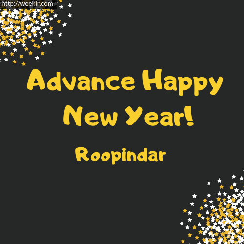 -Roopindar- Advance Happy New Year to You Greeting Image