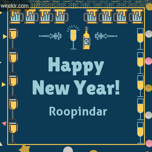 -Roopindar- Name On Happy New Year Images